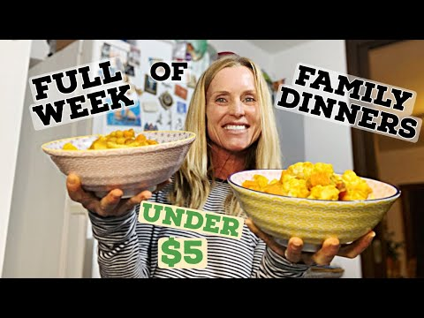FULL WEEK OF DELICIOUS, PLANT BASED FAMILY MEALS FOR UNDER $5// WFPB NO OIL// VEGAN// GLUTEN FREE