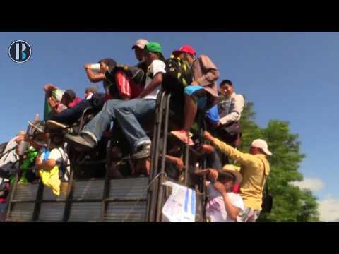 Redes sociales alivian la nostalgia de migrantes de la caravana