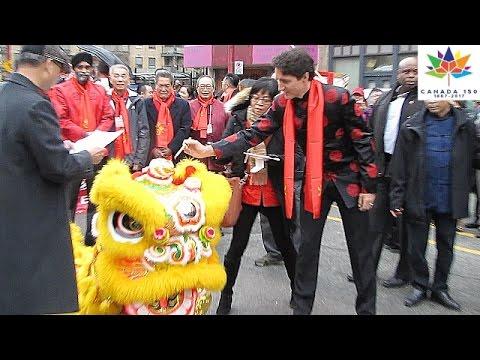 Canada 150 PM TRUDEAU @ 2017 Vancouver Chinatown Spring Festival Parade