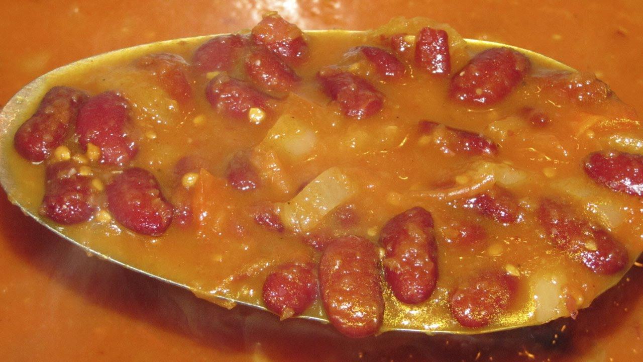 блюда из фасоли консервированной в томатном соусе