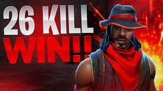 SOLO VS SQUADS 26 KILL WIN! - Fortnite Battle Royale
