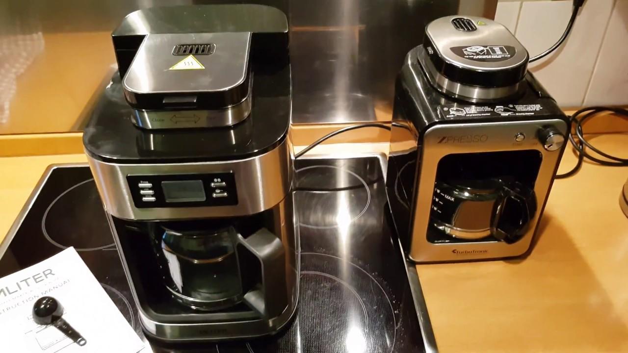 how to mliter kaffeemaschine mit mahlwerk und timer funktion youtube. Black Bedroom Furniture Sets. Home Design Ideas