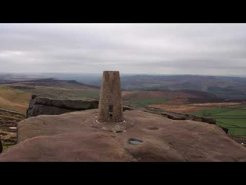 Walk From Upper Burbage Car Park To The Millstones, Stanage Edge, Derbyshire