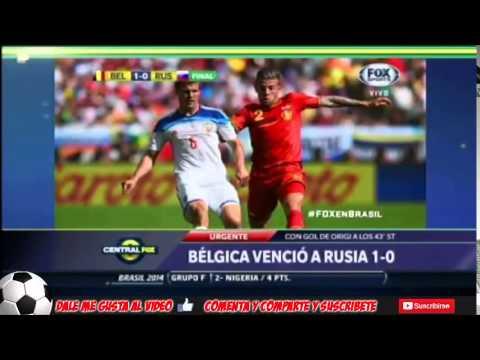 Belgium vs Russia 1-0 2014 ANALYSIS world cup Brazil 2014 22-06-2014 Belgium 1 russia 0