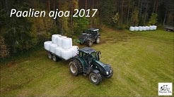 Paalien ajoa/Silage bale transporting 2017