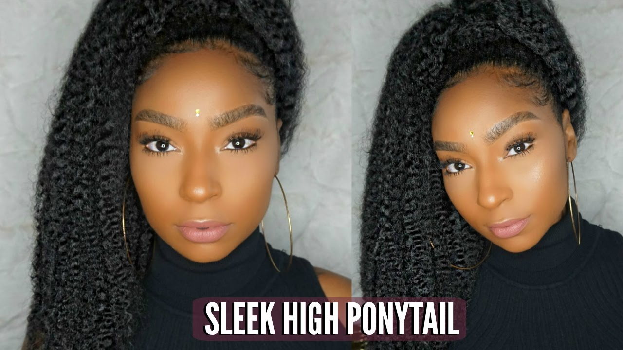 How To Quick Sleek Ponytail On Natural Hair Jamexicanbeauty Youtube