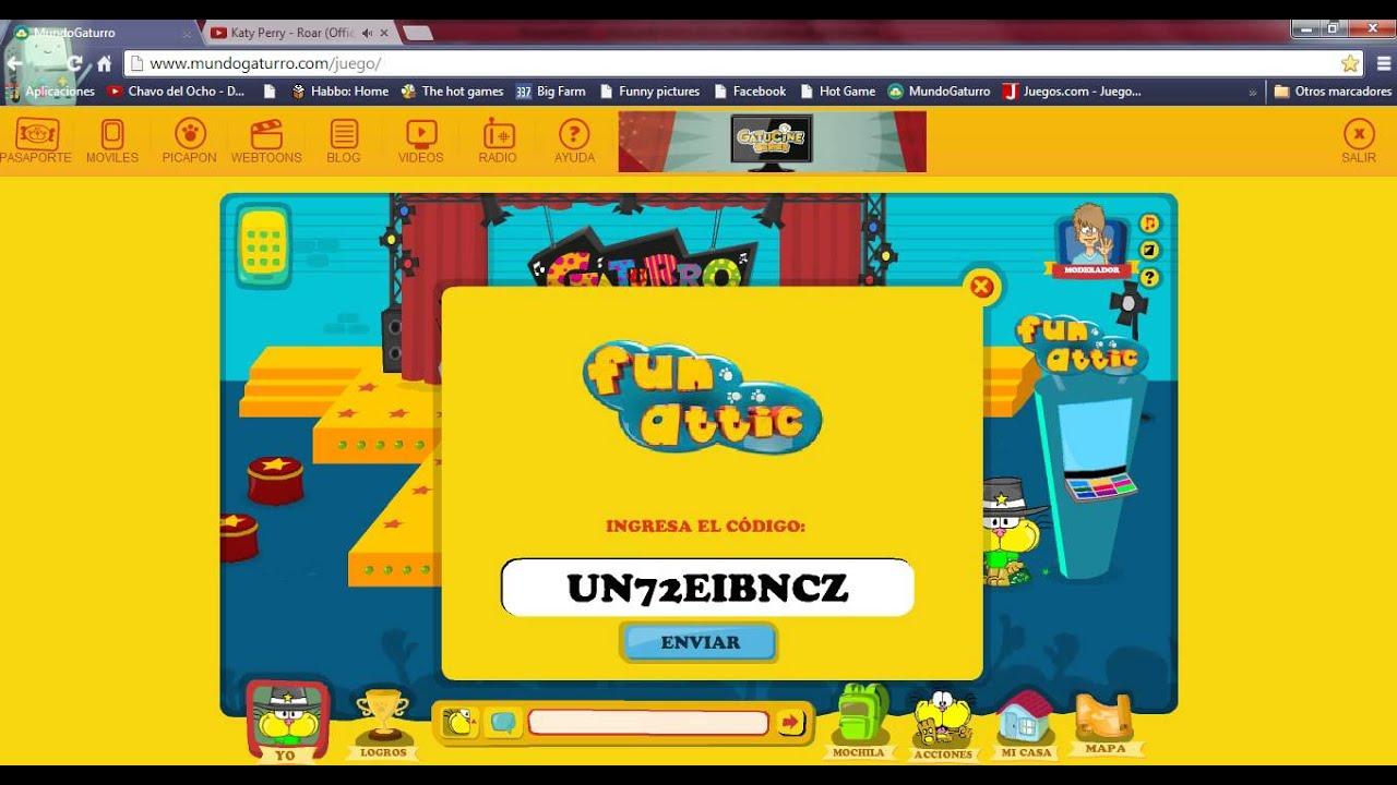 mundo gaturro codigos de la maquina de fun attic   youtube