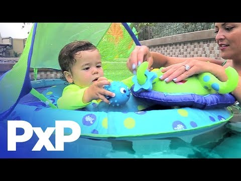 Celebrate International Learn to Swim Day with this SwimWays float! | A Toy Insider Play by Play