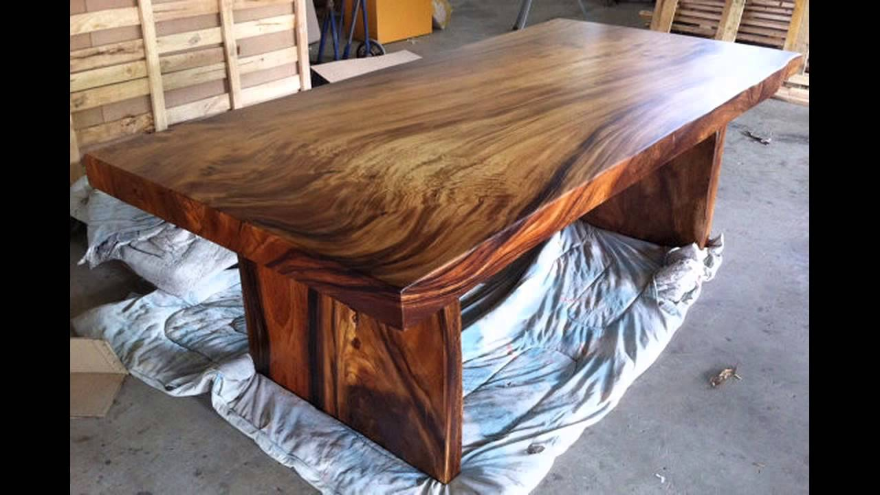 Unique wood dining room tables youtube for Dining room tables you tube
