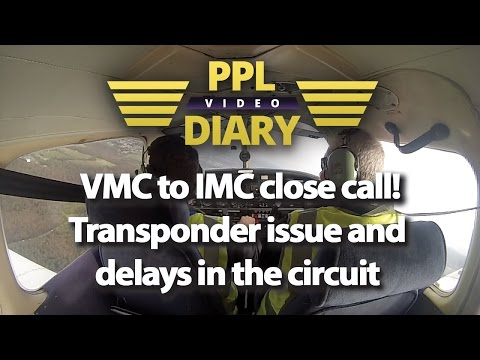 VMC to IMC close call, Transponder issue and delays in the circuit - G-BUJO (PA28)
