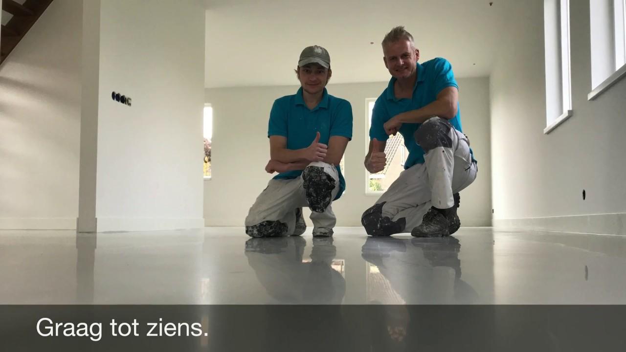 Woonkamer latex spuiten in Zaltbommel. - YouTube