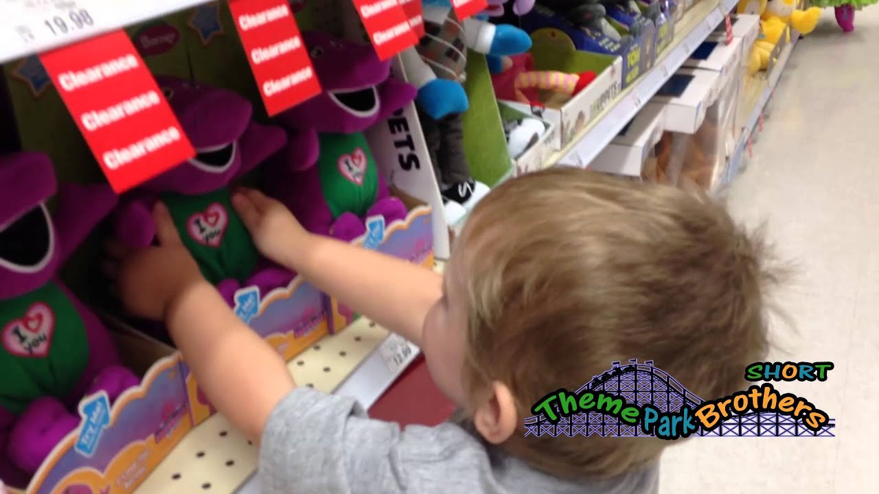 Barney at Toys R Us Theme Park Brothers Short