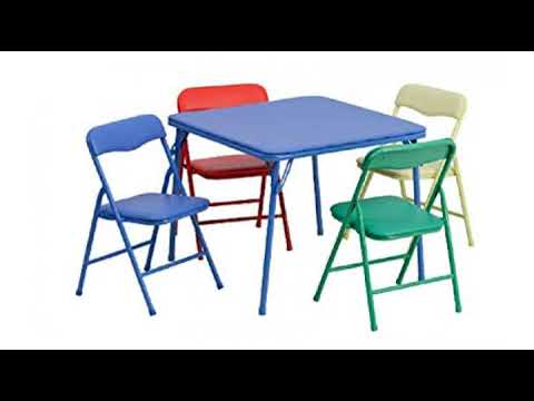 Must See Furniture Review Flash Kids Colorful 5 Piece Folding Table And Chair Set