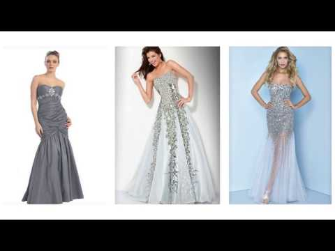 Top 100 Silver prom dresses, long  silver prom dresses for women