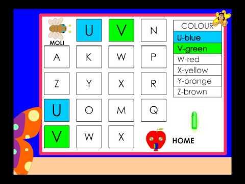 Kindergarten worksheets   recognition of letters V to Z