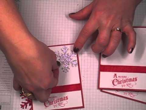 Christmas Card Tutorial - Mass producing tips
