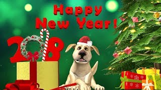 Happy New Year 2018! Happy New Year of the Dog message