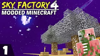 Sky Factory 4 Ep1! My First Time Playing Skyblock!?! Modded Minecraft Skyblock, Survival Lets Play!