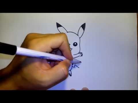 พิคาชู Pikachu จาก การ์ตูน โปเกม่อน by วาดการ์ตูนกันเถอะ สอนวาดรูป การ์ตูน