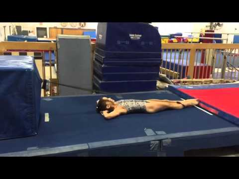 Assisted Supine Split Leap