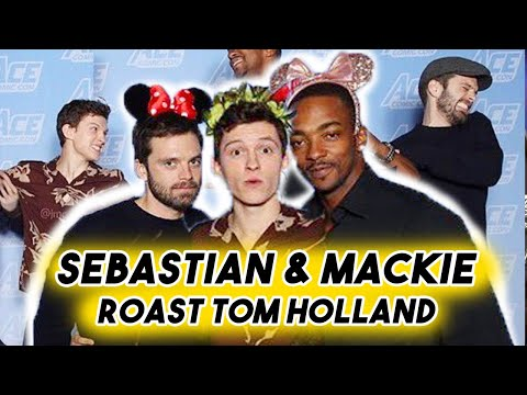Tom Holland Getting Roasted by Anthony Mackie and Sebastian Stan  Spider-man Funny Moments