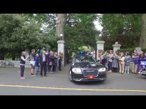 Prince William and Kate Middleton leaving Government House - Victoria BC