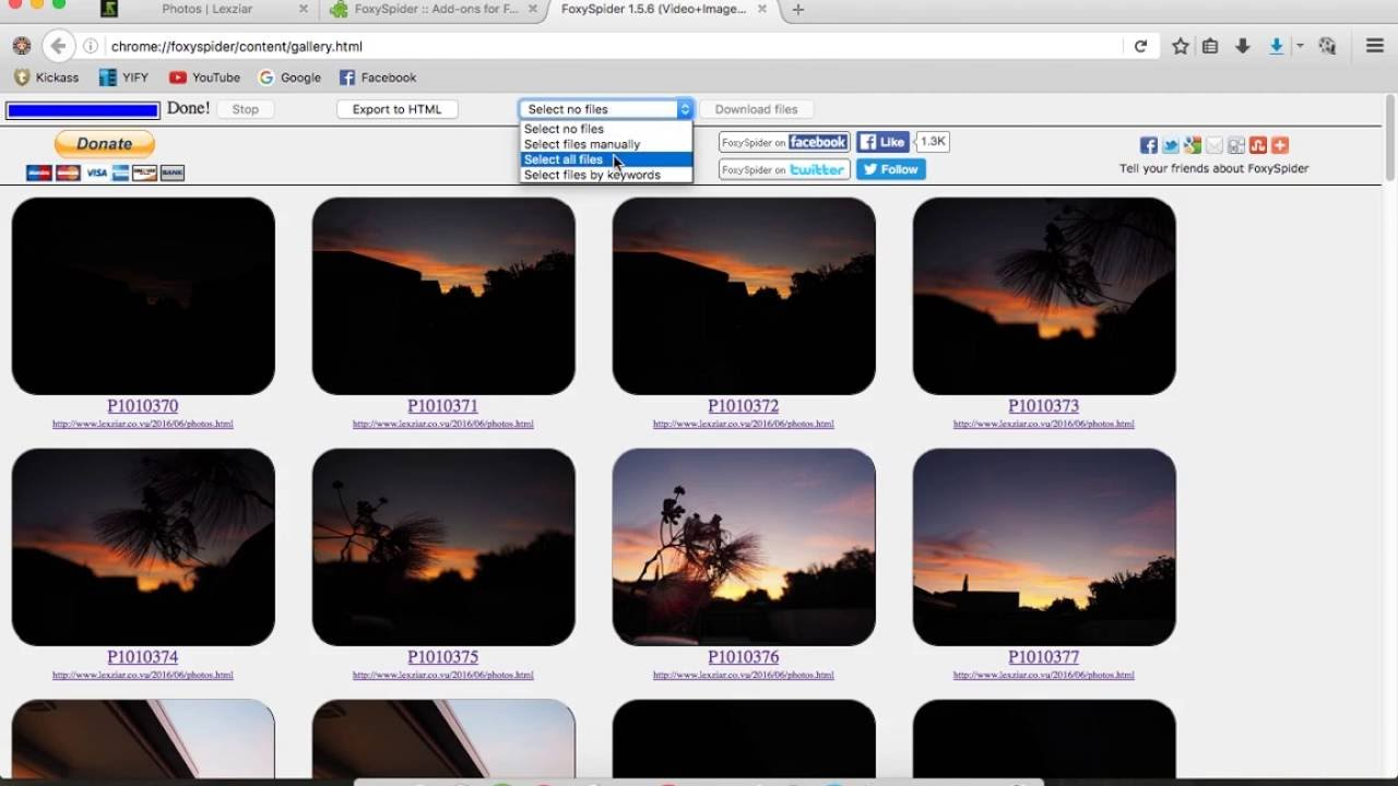 How to Download all the images from a webpage at once