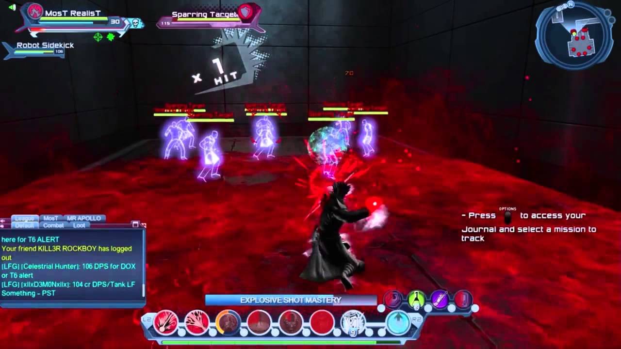 dcuo rage dps loadout w hand blaster weapon mastery rotation youtube