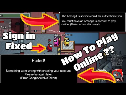 Among Us Sign In Error Fixed | Among Us Sign In Problem Fixed | How To Play Without Sign In