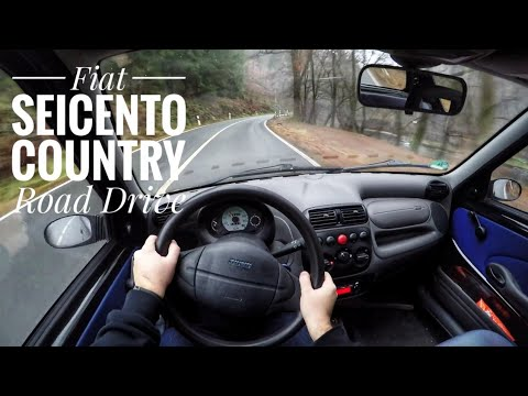 fiat seicento 1 1 1998 pov country road drive youtube. Black Bedroom Furniture Sets. Home Design Ideas