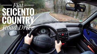 Fiat Seicento 1.1 (1998) - POV Country Road Drive