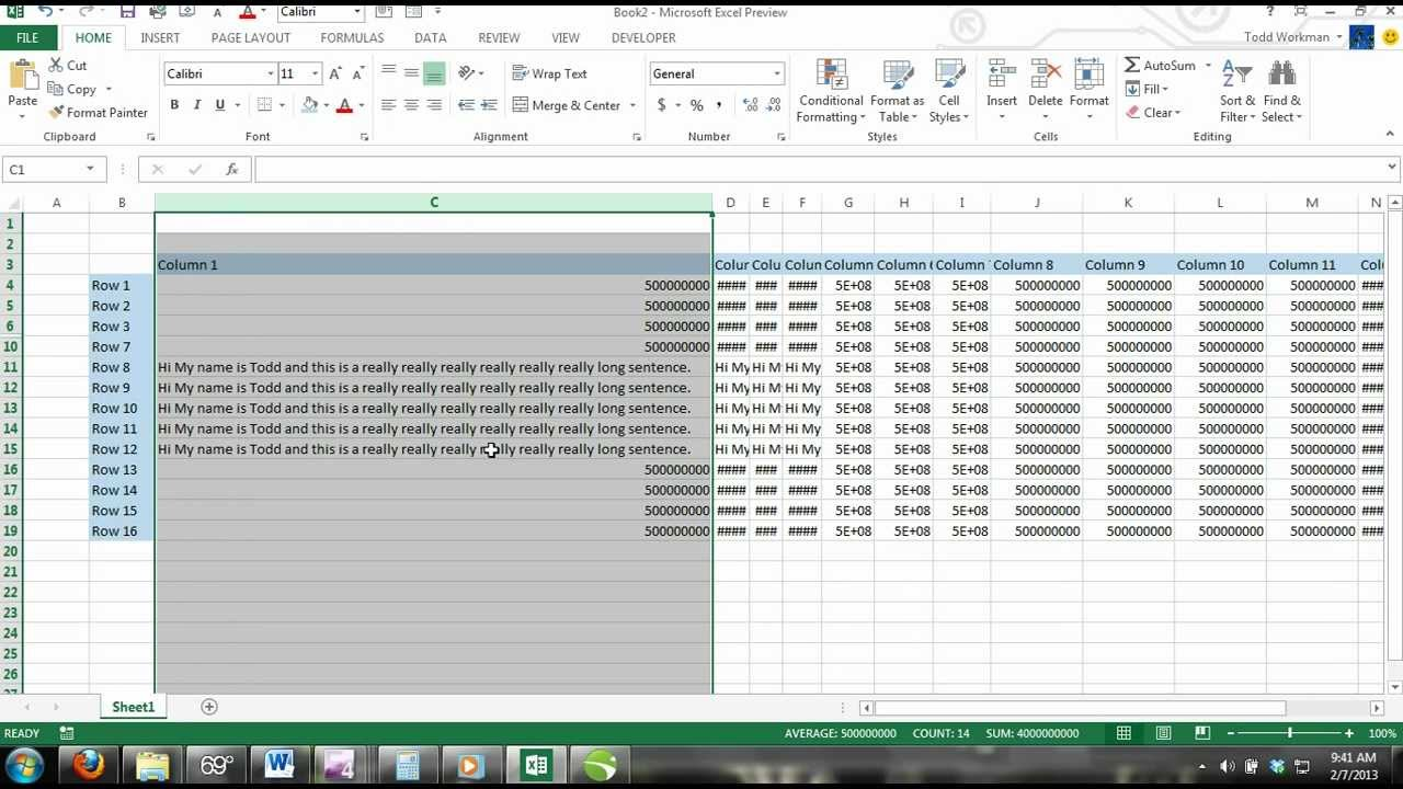 how to move columns in excel 2013