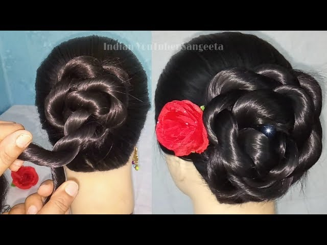 Easy Quick Hairstyle For Wedding Beautiful Bun Hairstyle For Girls Summer Hairstyles