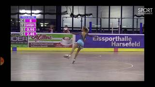 Semenova cadet FP Europe Championship 2019 Чемпионат и первенство Европы2019 по фигурному катанию