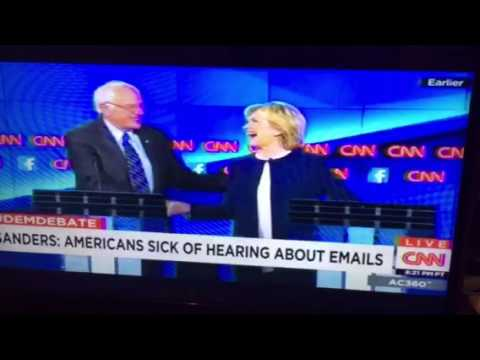 "Bernie Sanders ""Enough With The Damn Emails"" CNN Debate #DemDebate - Zennie62"