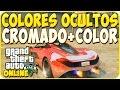 TRUCOS GTA 5 ONLINE - COLORES SECRETOS: COMBINAR CROMADO MAS COLOR CREW - GTA 5 PS4, PC Y XBOX ONE