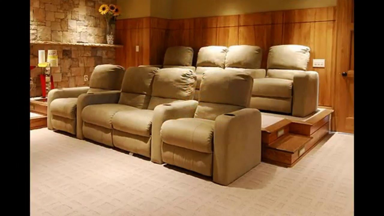 Theater Room Furniture Ideas Home Theater Room Seating Ideas  Youtube