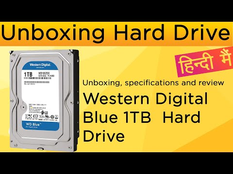 Unboxing Western Digital Blue 1TB  Hard Drive in Hindi|specifications and review in Hindi.