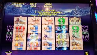 Big win. Max bet on Timber wolf