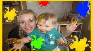 Пальчиковые краски - все ЗА и ПРОТИВ!/малыш смешно рисует!(Смотрите о плюсах и минусах пальчиковых красок в этом видео!Также вы сможете увидеть как это выглядит на..., 2015-12-11T18:16:05.000Z)