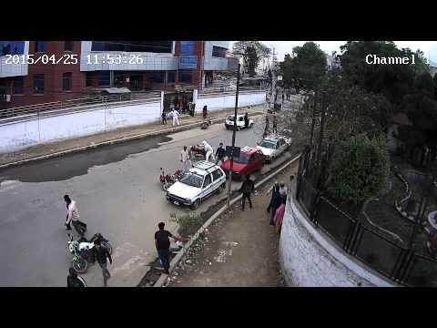 Nepal Earthquake CCTV Video of Dharahara, Sundhara (EXCLUSIVE)