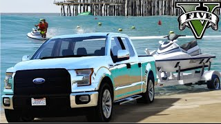 GTA V Mods - Ford F150 cromada + Jetski trailer