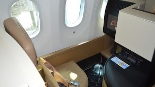 Etihad B787-9 Business Studio : EY131 Abu Dhabi to Washington