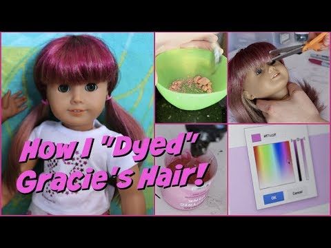 HOW I DYED MY AMERICAN GIRL DOLL'S HAIR! // Behind the Scenes of Making an AGSM