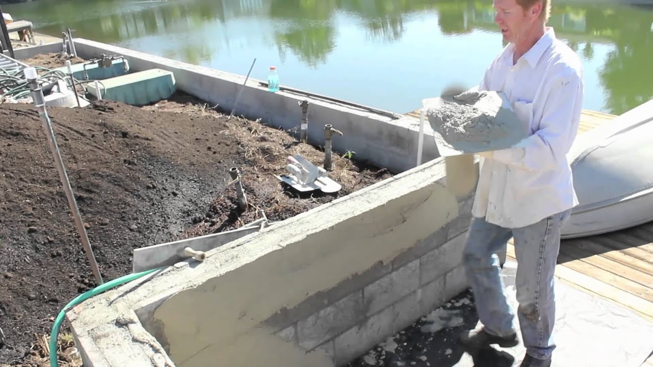 How To Skim Coat Cement Plaster Or Render Plaster Over Cinder Block Walls    YouTube