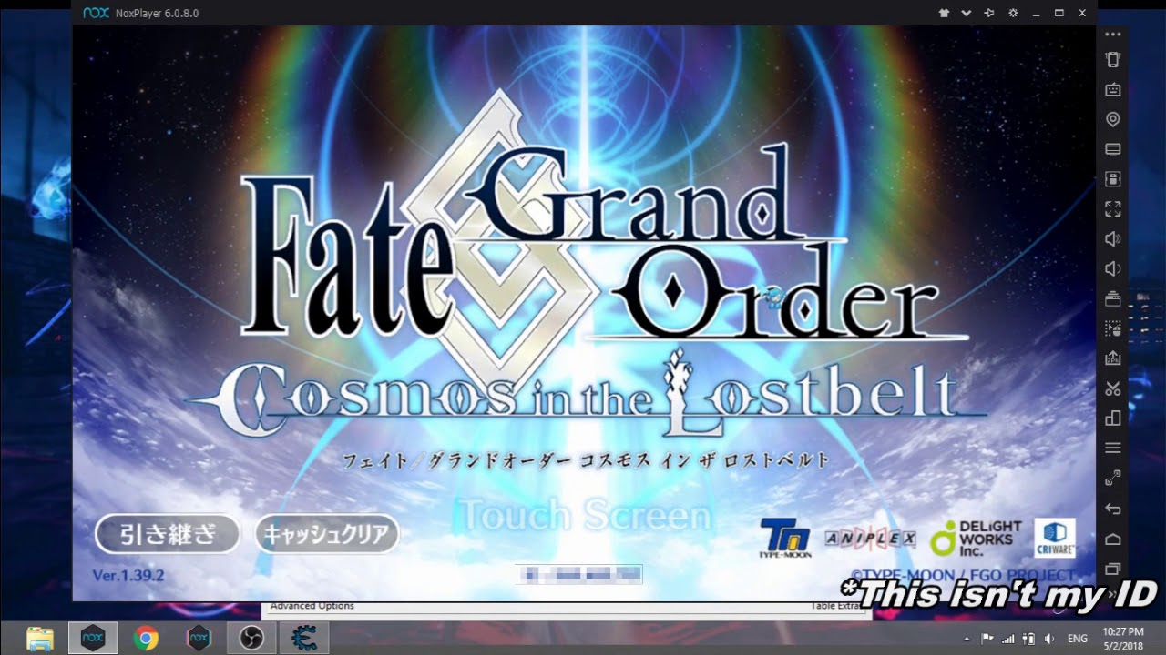 How to play FGO on NOX player (Update late April 2018)