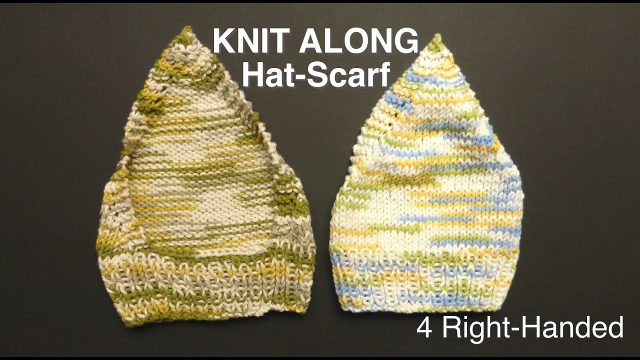 Super Easy Knitted Headscarf Kerchief 4 Righties Youtube