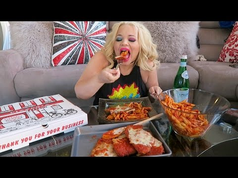 CHICKEN PARMESAN + PIZZA (ITALIAN) MUKBANG | HAVE DINNER WITH ME!