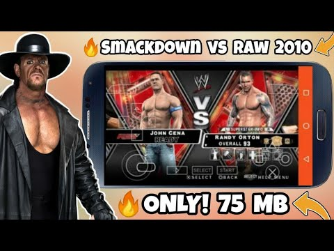 [75 MB] Download WWE Smackdown Vs Raw 2010 On Android