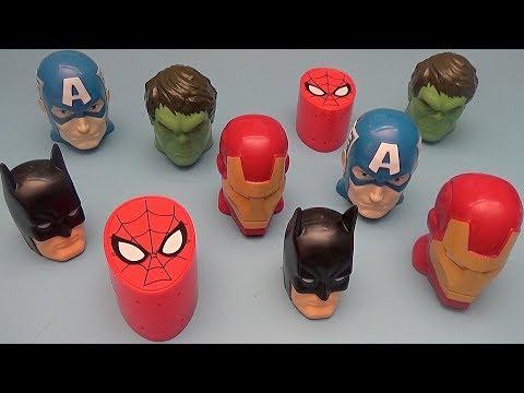 Surprise Egg Opening Matching Game for Kids!  Avengers Batman Spider-Man Superheroes